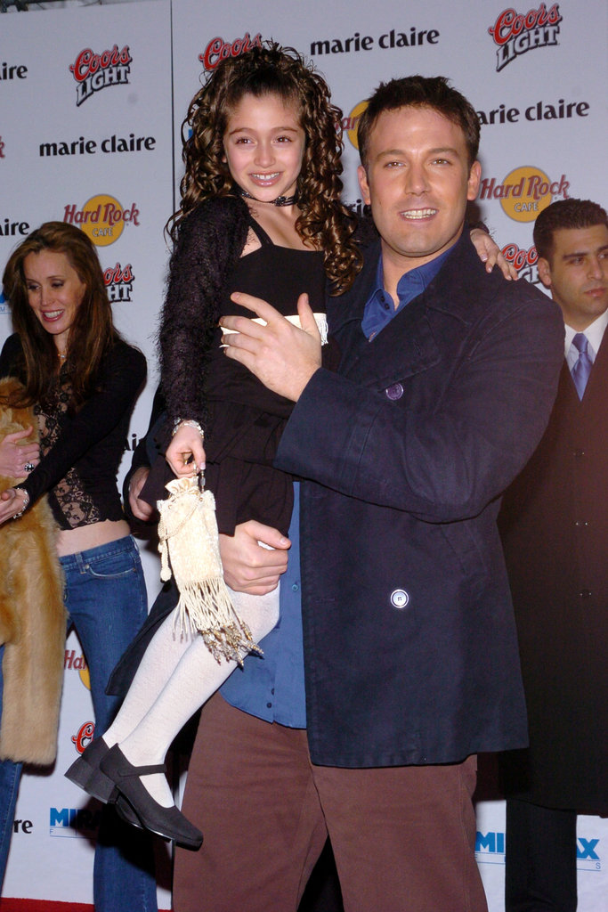 Ben Affleck gave his tiny costar a lift at the March 2004 NYC premiere of Jersey Girl.