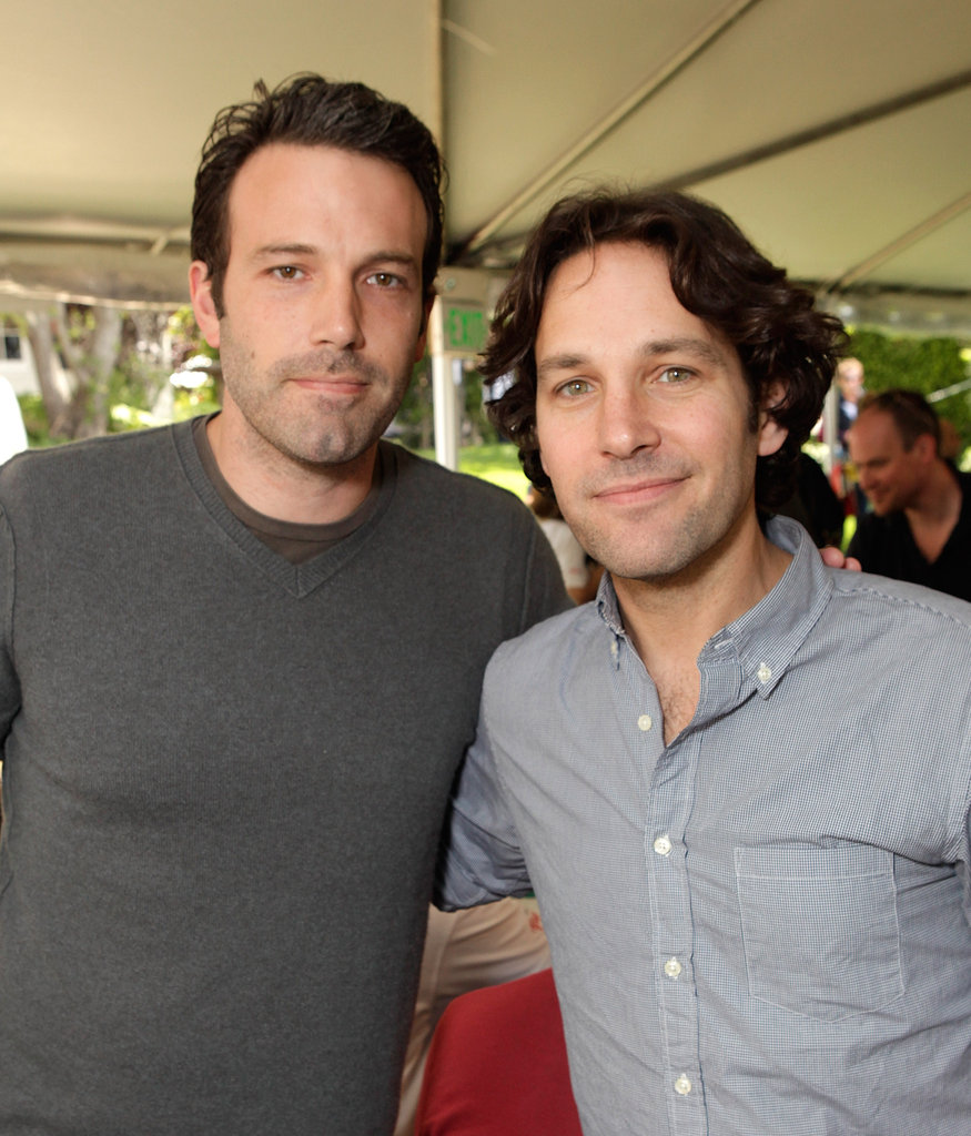 Ben Affleck shared a photo with another good-looking guy, Paul Rudd, at a philanthropic event held in LA in May 2011.