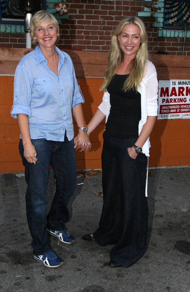The couple stopped for a photo during a July 2007 date night in LA.