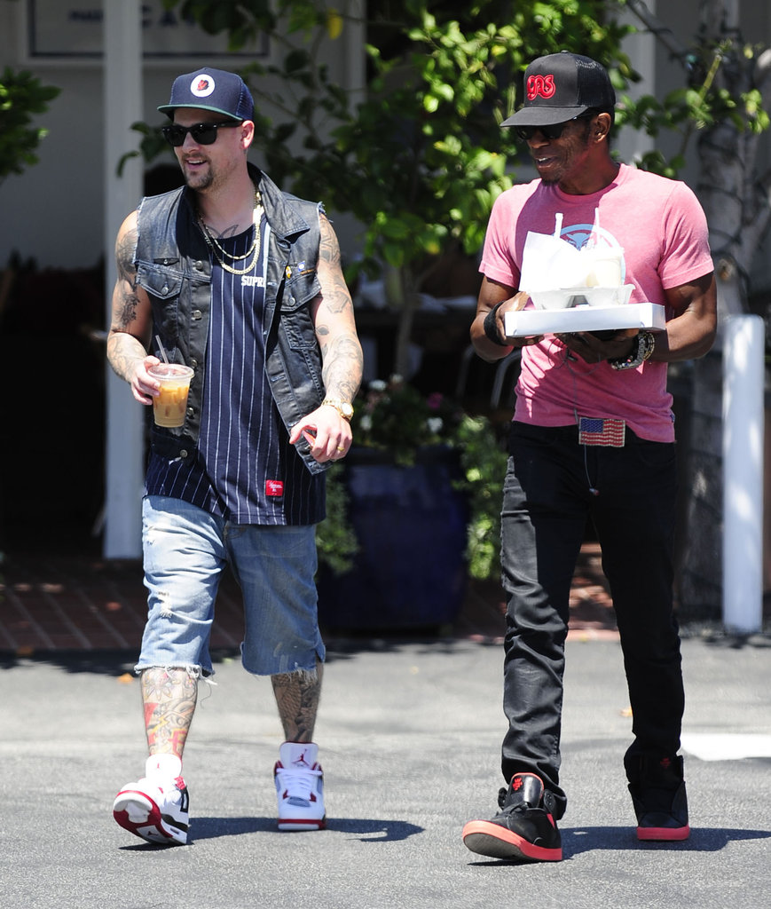 Joel Madden wore sneakers to his lunch date.