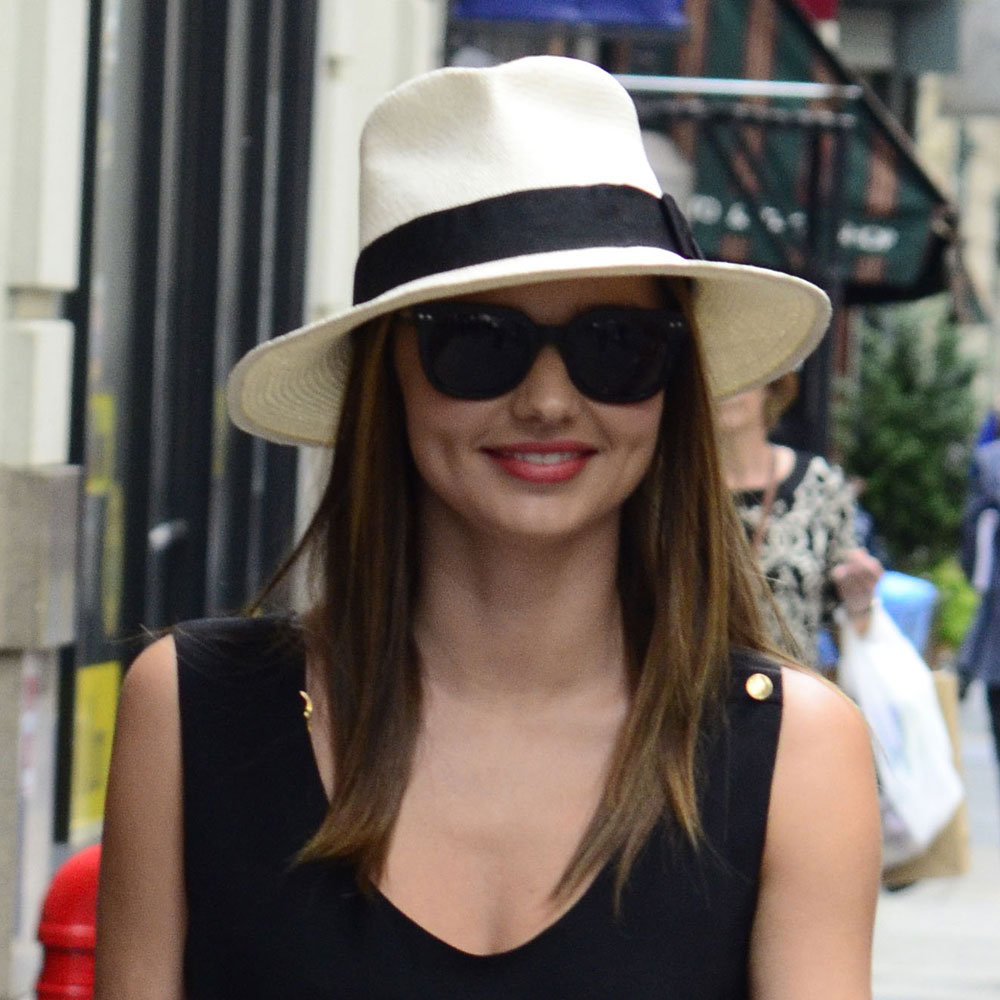 Miranda wore a chic hint of red while out and about in New York in June.