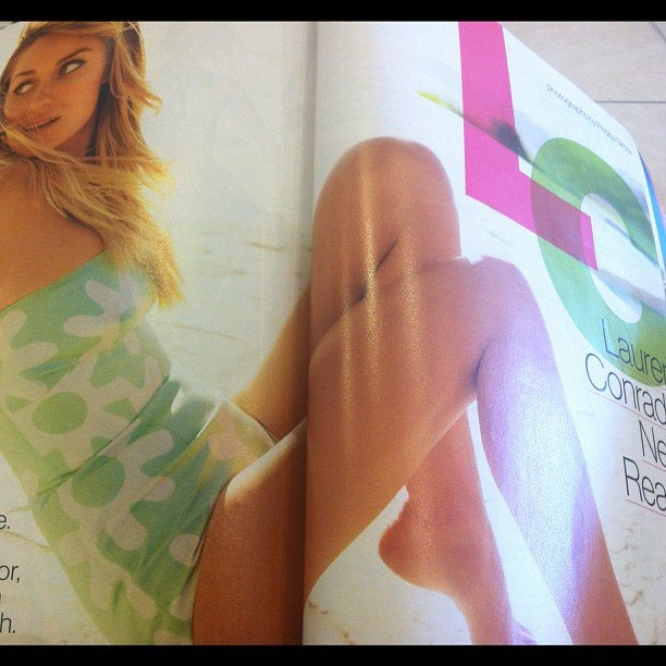 """On this Glamour mag spread, celebstyle said, """"Oldie but Lauren Conrad is always a goodie!"""""""