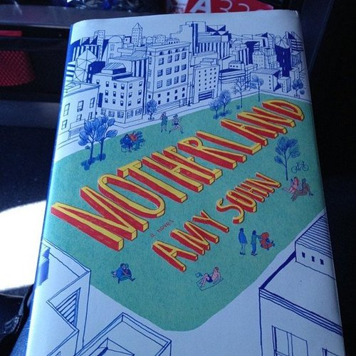 "POPSUGAR Celebrity was reading Motherland by Amy Sohn and wrote, ""Good company for JFK-->SFO on Virgin America!"""