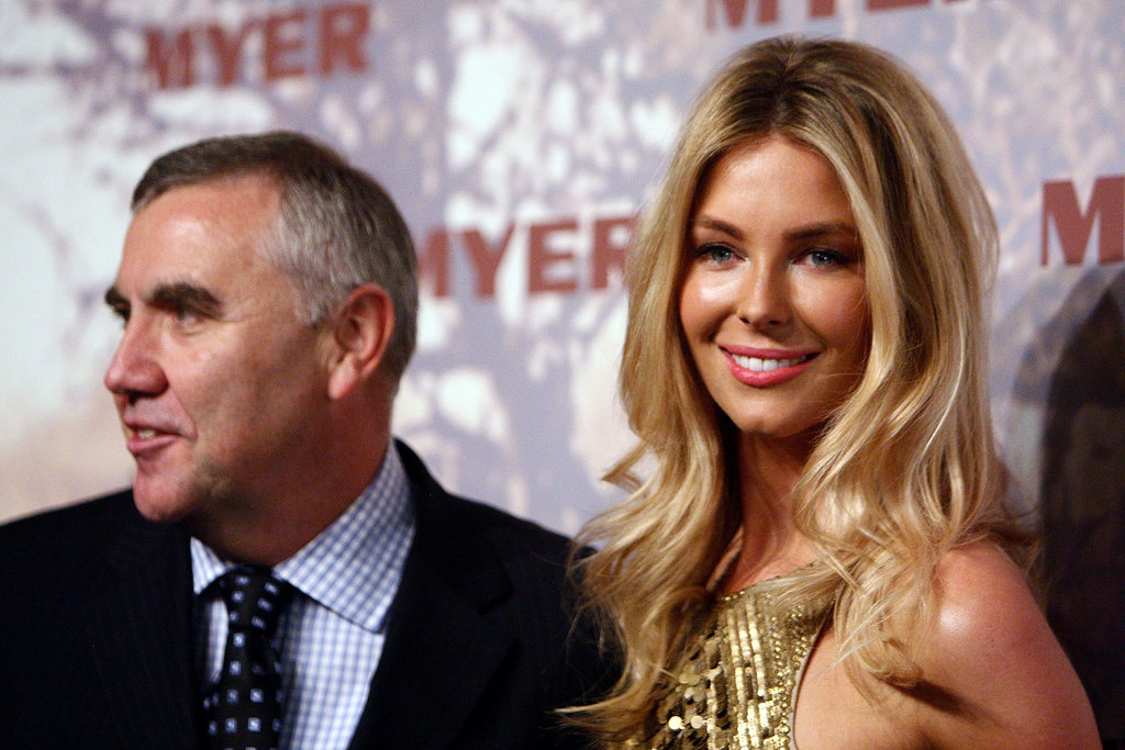 Bernie Brookes and Jennifer Hawkins