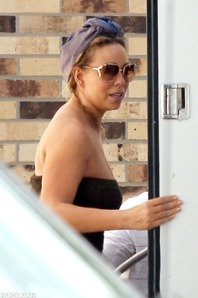 Mariah Carey was spotted on the set of The Butler in New Orleans.
