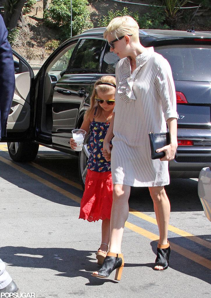 Matilda Ledger held mom Michelle Williams's hand in LA.