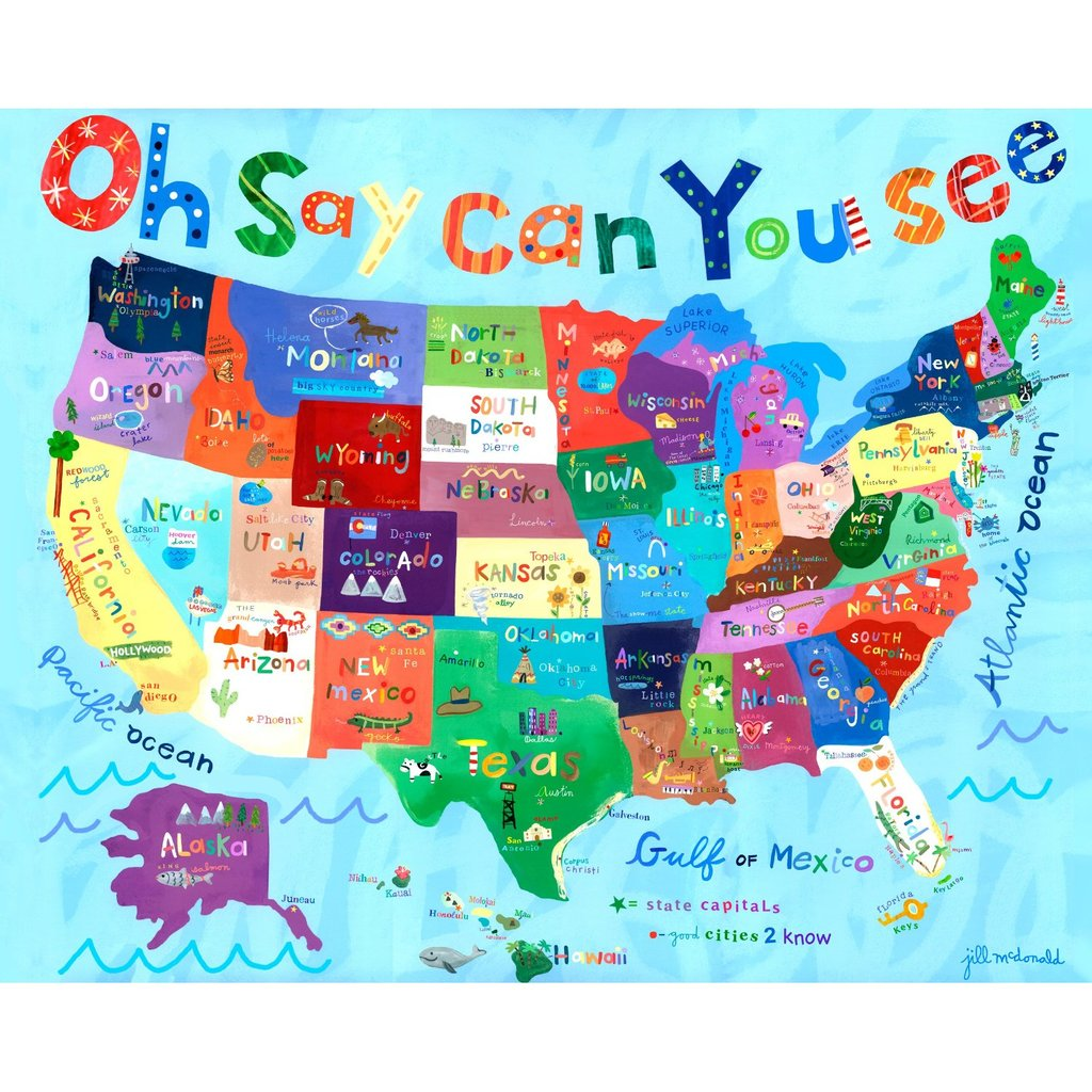 Map themed wall art for kids 39 rooms popsugar moms for Wall map for kids room