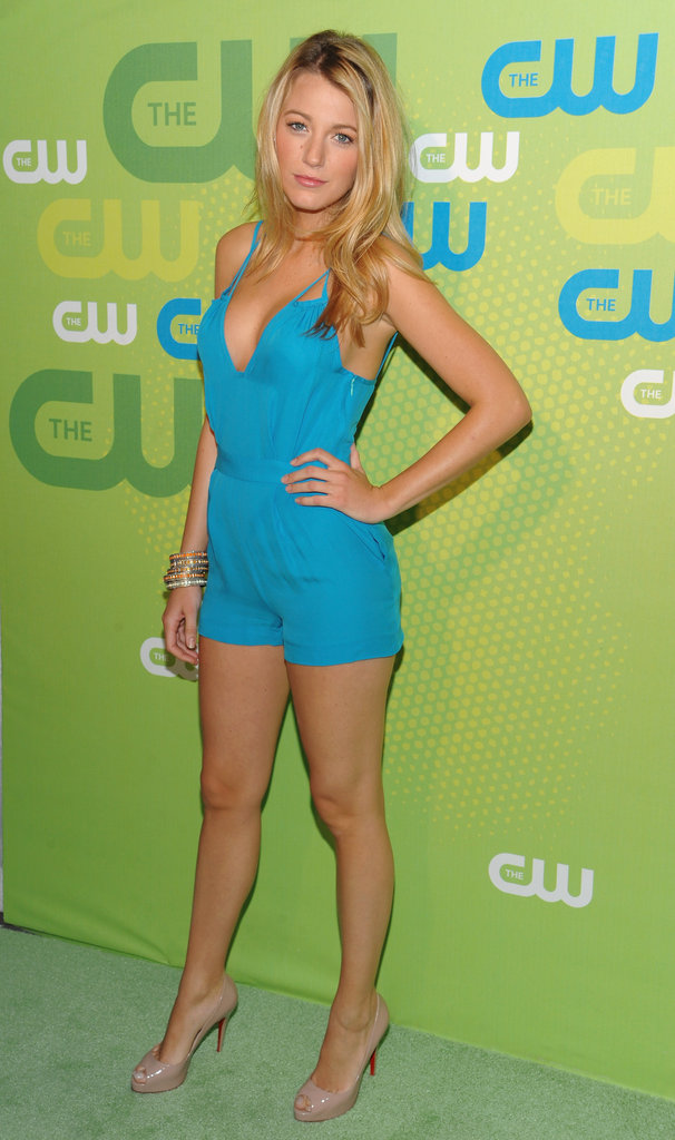 Blake Lively went short and bright in a playsuit for a May 2009 appearance in LA.
