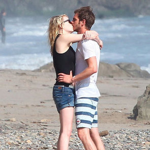 Emma Stone Kissing Andrew Garfield on the Beach