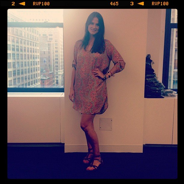 Associate editor Hannah Weil rocked a bohemian look with this '60s-inspired dress.