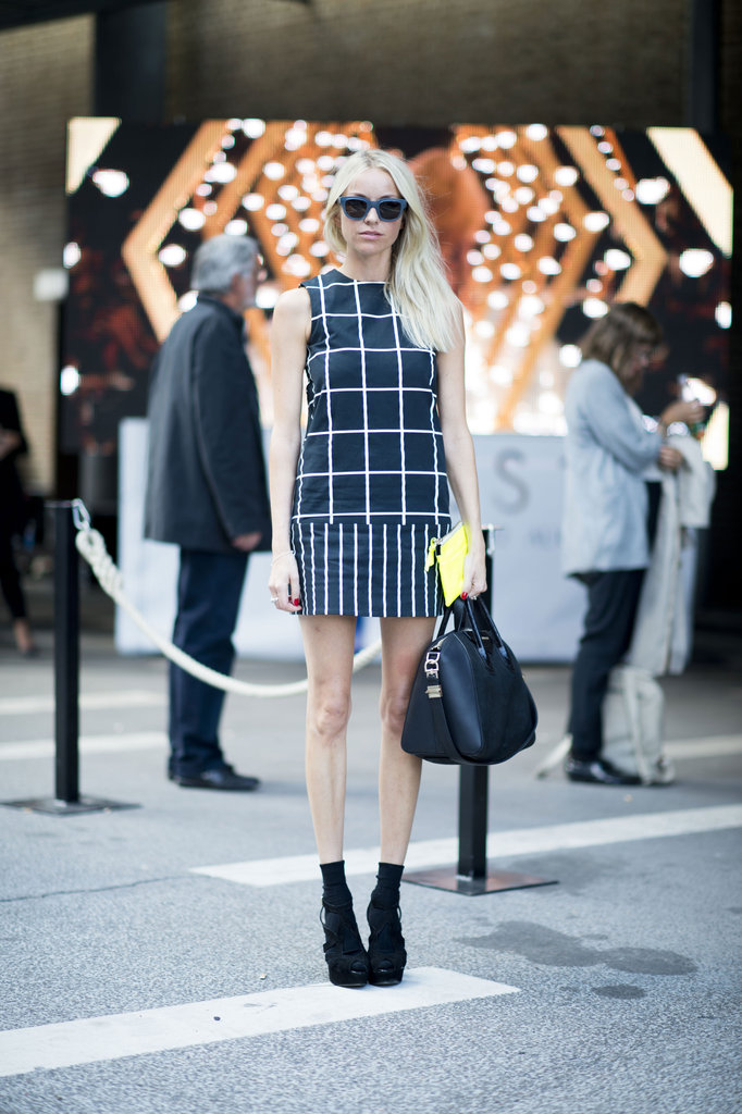 What's cuter than a little mod shirt and ankle boots to kick off the season. Source: Adam Katz Sinding