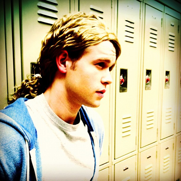 Chord Overstreet showed off his dreamy stare on the McKinley High set of Glee. Source - Chord-Overstreet-showed-off-his-dreamy-stare-McKinley-High-set