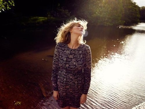 Sophie Dahl plays into Aubin & Wills's dreamy woodscape vibe so perfectly.