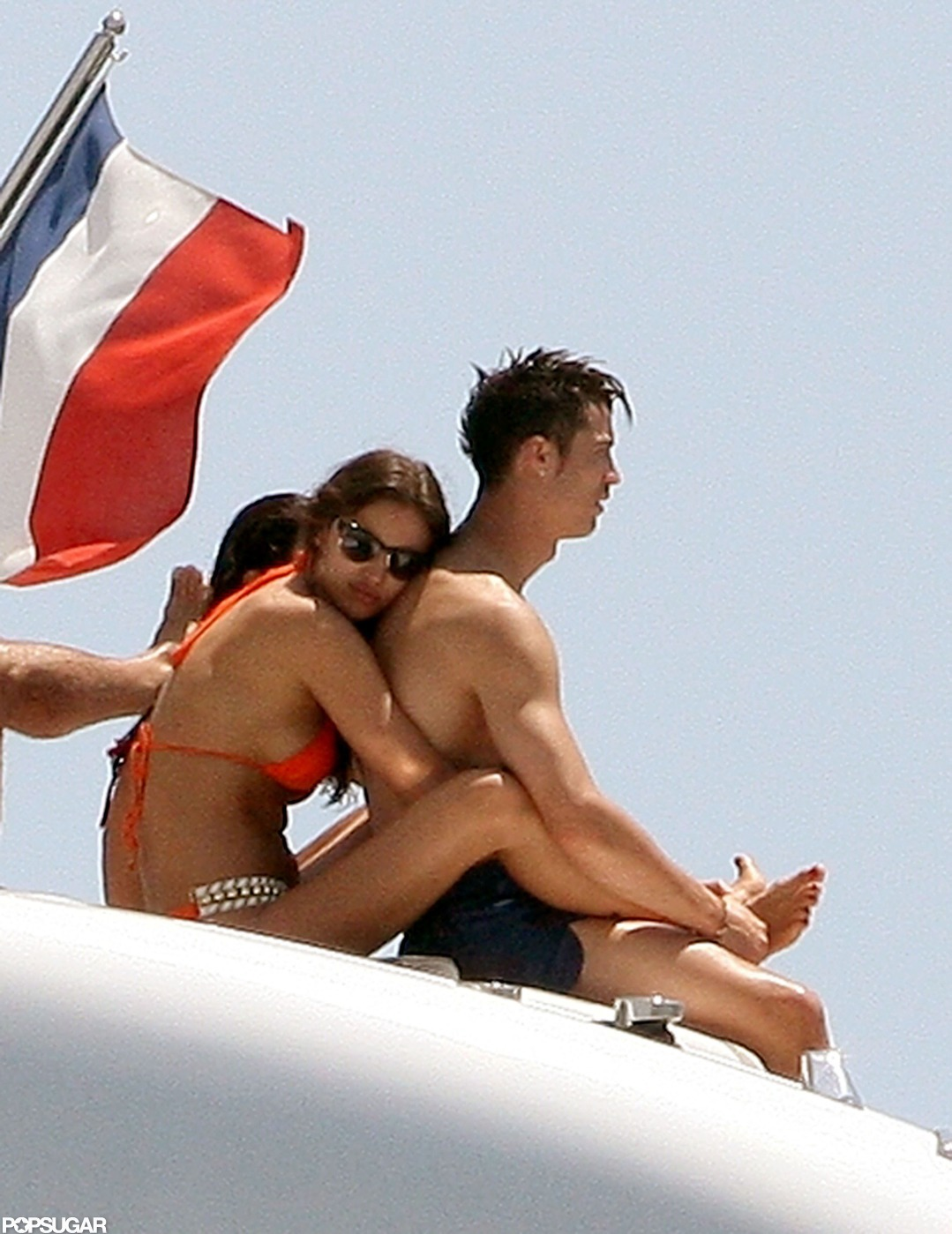 Cristiano Ronaldo and Irina Shayk cuddled up in St.-Tropez during a trip in July 2012.