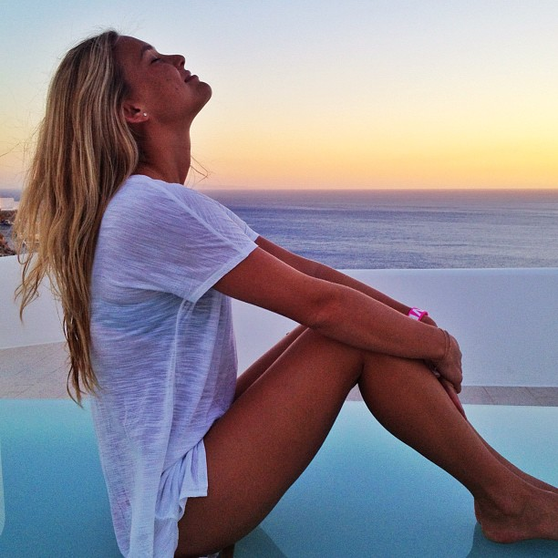 Bar Refaeli soaked up the sun during a picturesque day in August. Source: Instagram user barrefaeli