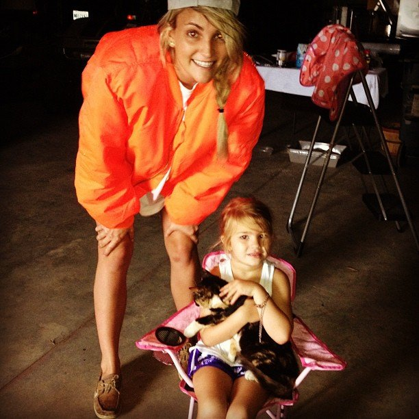 Jamie Lynn Spears and her daughter, Maddie, prepared to hunker down against Hurricane Isaac. Source: Instagram user jl777
