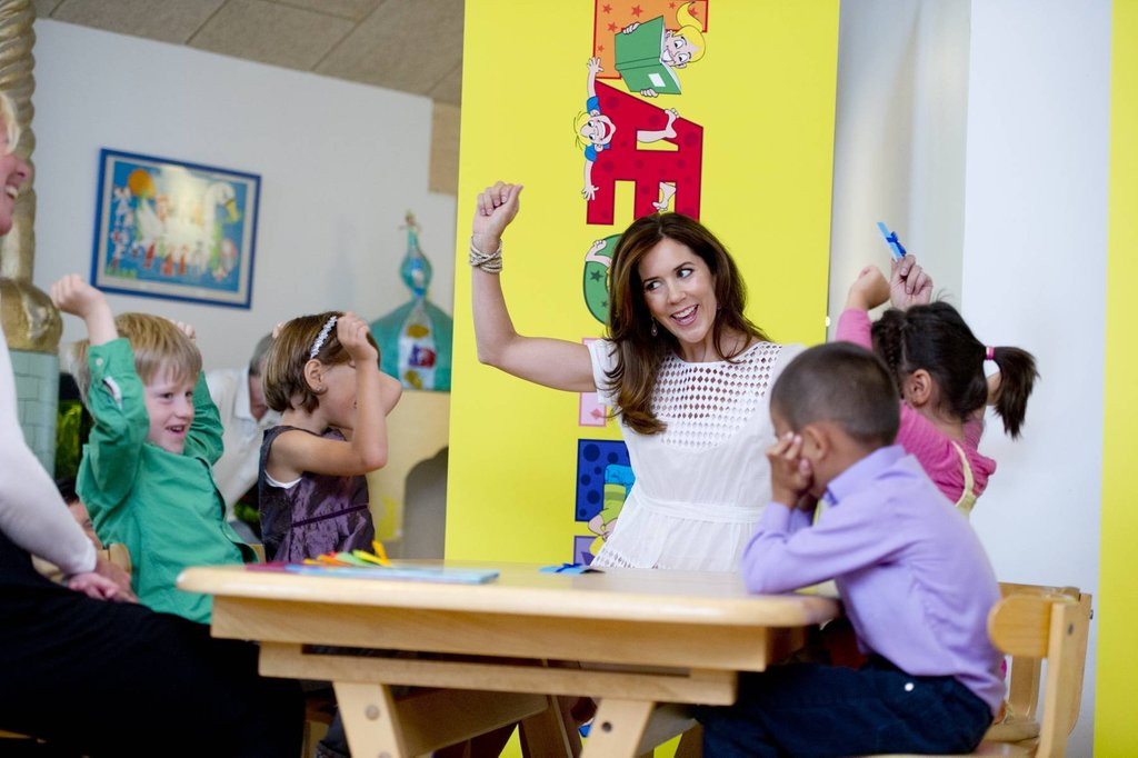 Princess Mary Is All Smiles During a School Visit Day