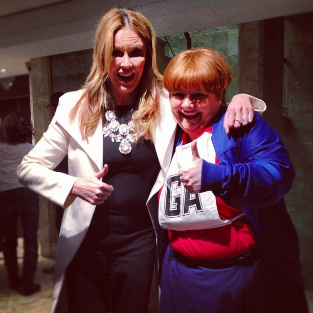 Charlotte Dawson bumped into Kath & Kimderella's Sharon Strzelecki. Source: Instagram user mscharlotted