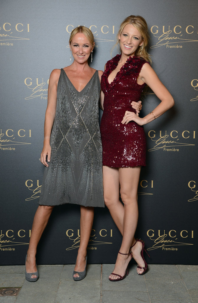 Blake Lively posed with Frida Giannini at the Gucci fragrance launch.