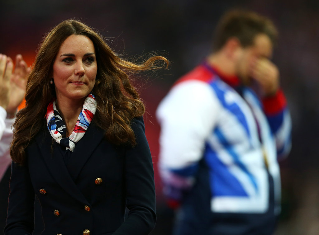 Kate Middleton wore a scarf and a blue blazer at the Paralympics.