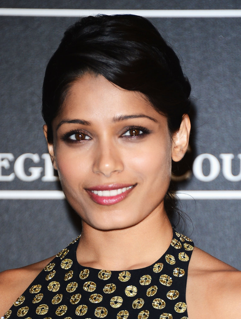 Freida Pinto was in attendance at the Jaeger-LeCoultre party in Venice.