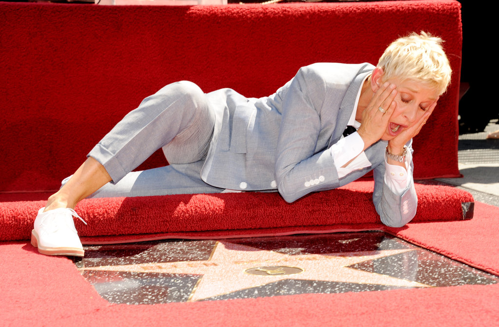 Ellen DeGeneres made funny faces with her star.