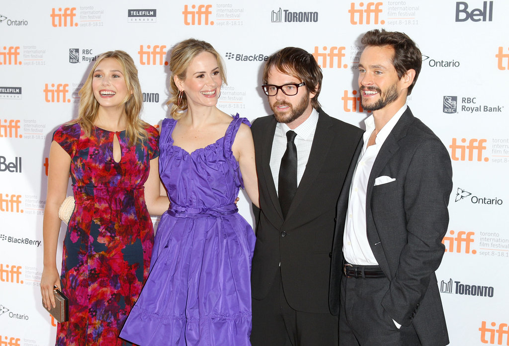 Elizabeth Olsen, Sarah Paulson, director Sean Durkin, and Hugh Dancy made a spirited arrival to the 2011 premiere of their dark drama Martha Marcy May Marlene.
