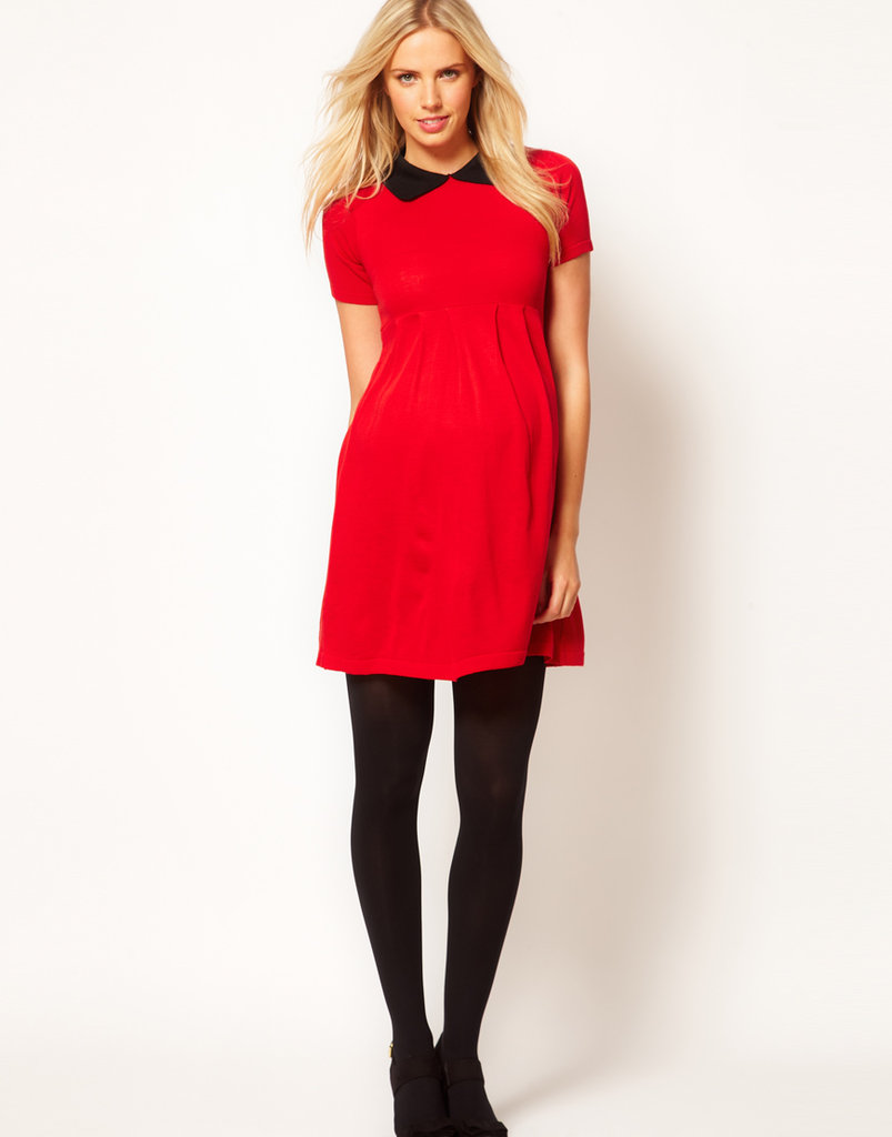 Featuring a round neckline and a bold Peter Pan collar, this ASOS Maternity Knitted Dress ($52) is perfect for Fall.