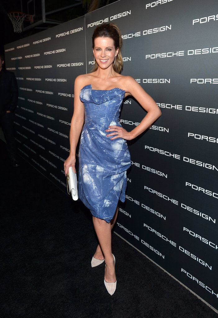 Kate Beckinsale was all smiles as she posed at the event.
