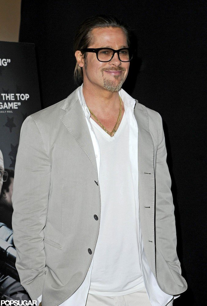Brad Pitt wore glasses to the Killing Them Softly screening in London.