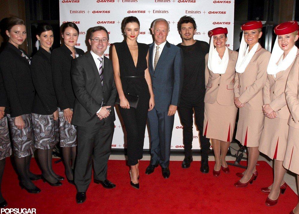 Miranda Kerr posed at the Quantas-Emirates event.