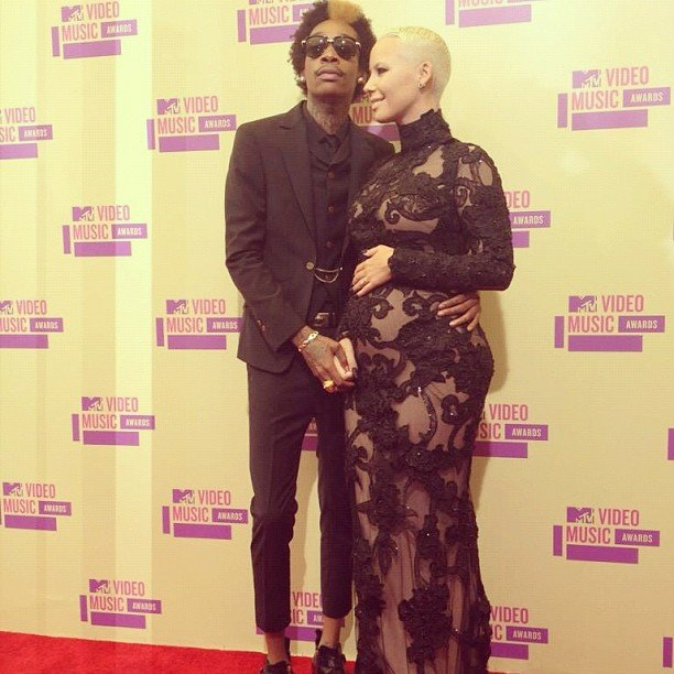 Wiz Khalifa and Amber Rose announced their baby news on the red carpet.  Source: Instagram user mtv