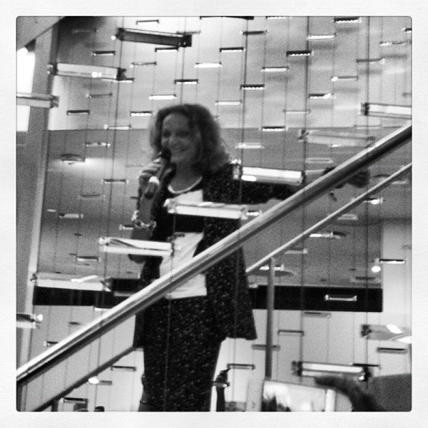 Diane von Furstenberg welcomed the Fashion's Night Out crowd at her Meatpacking, NYC, store.