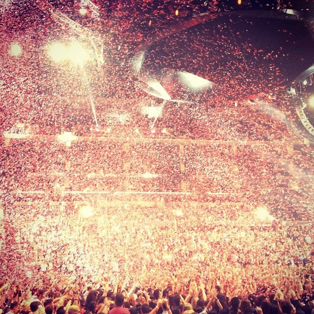 DJ A-Trak captured the scene following Taylor Swift's performance. Source: Instagram user atrak