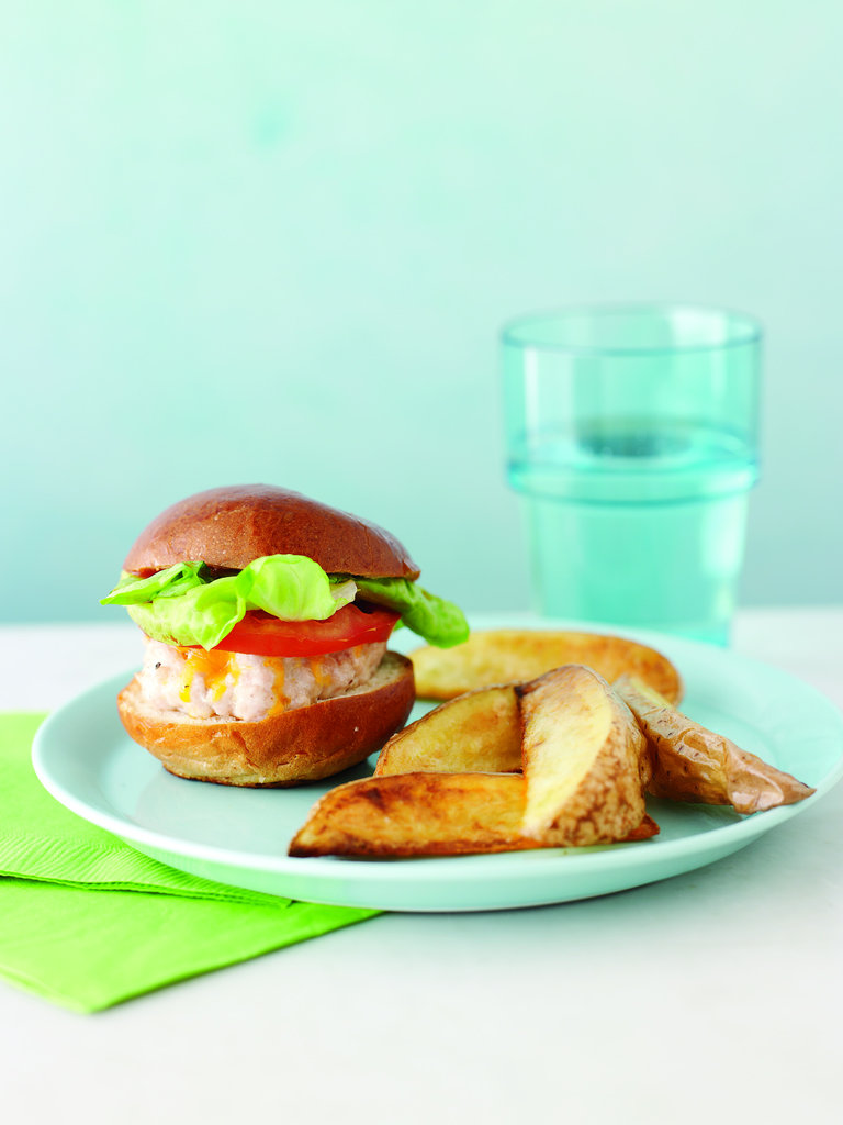 Turkey Sliders With Baked Potato Wedges