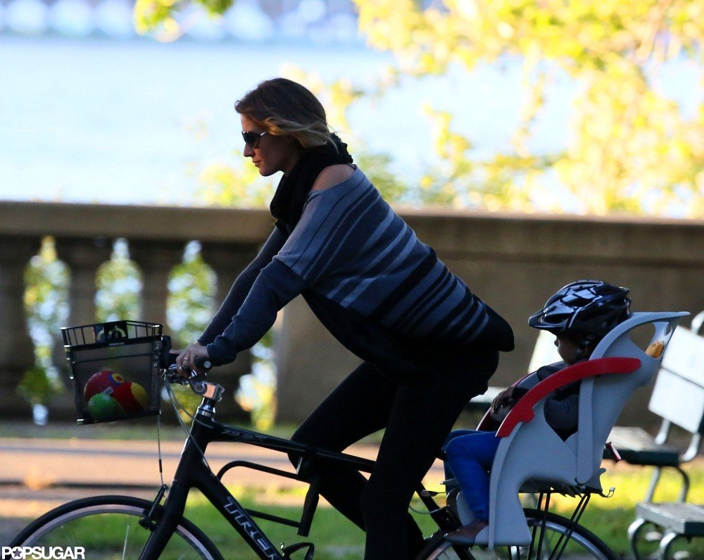 Gisele Bundchen Returns to Boston to Bike With Her Boys
