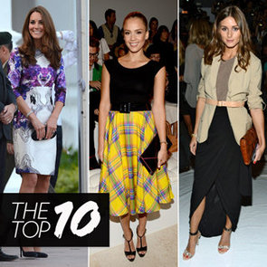 Top Ten Best Dressed Of The Week: Kate Middleton White Dress, Jessica Alba Yellow Skirt, Olivia Palermo