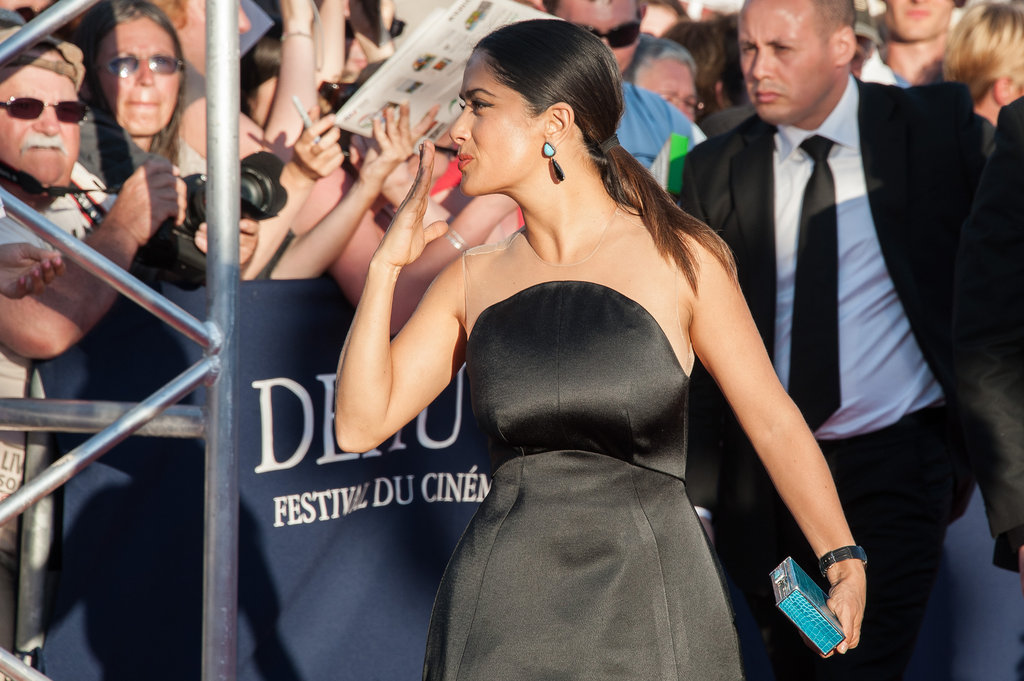 Salma Hayek arrived at the closing ceremony of the 38th Deauville American Film Festival.