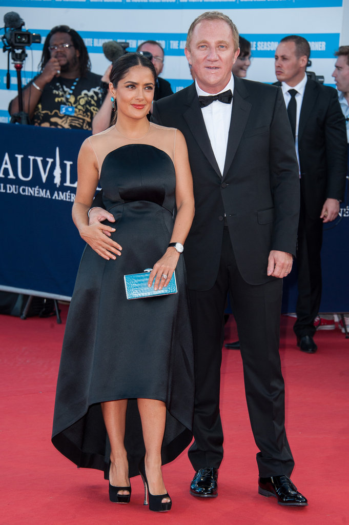Salma Hayek and her husband, François-Henri Pinault, arrived at the closing ceremony of the 38th Deauville American Film Festival.