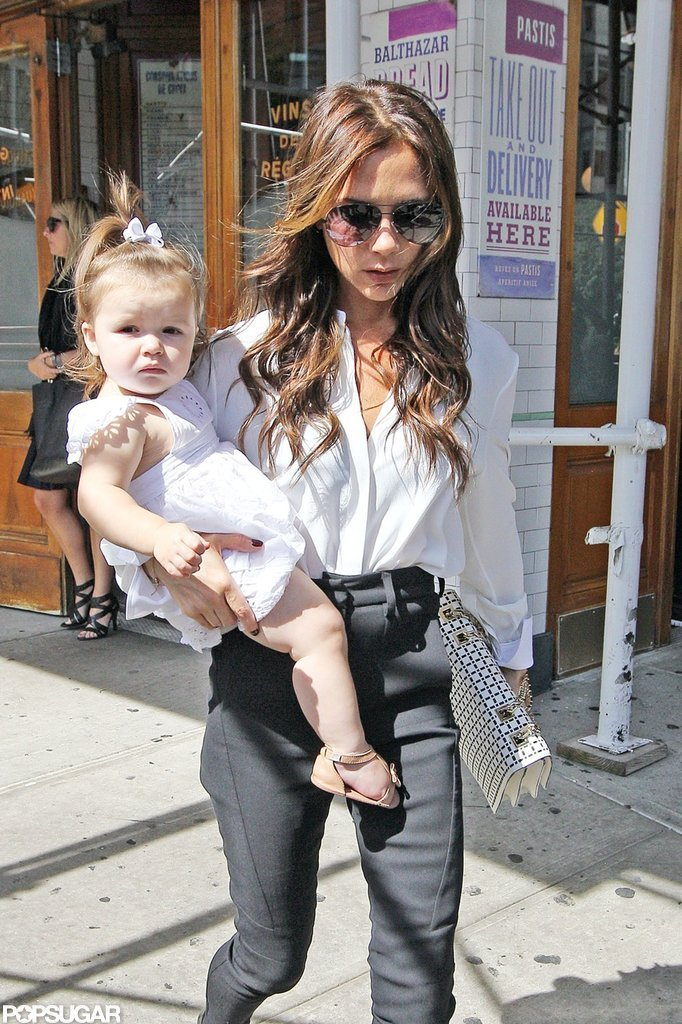Victoria Beckham Celebrates Another Successful Show With Harper