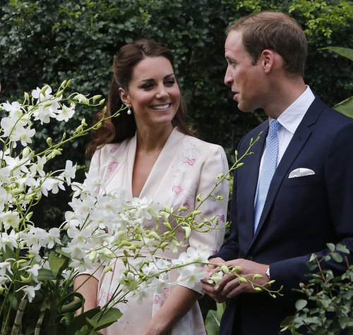 The Duke and Duchess of Cambridge enjoyed each other's company at the Singapore Botanical Gardens in 2012.