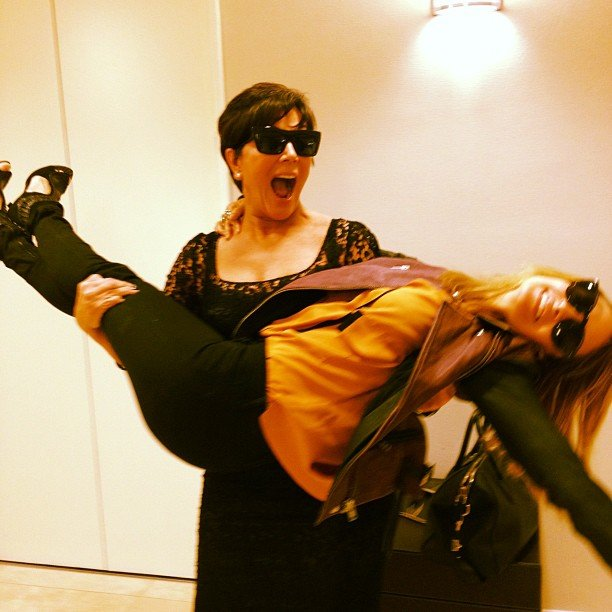 Kris Jenner swept Nicole Richie off her feet in NYC. Source: Instagram user therealkrisjenner