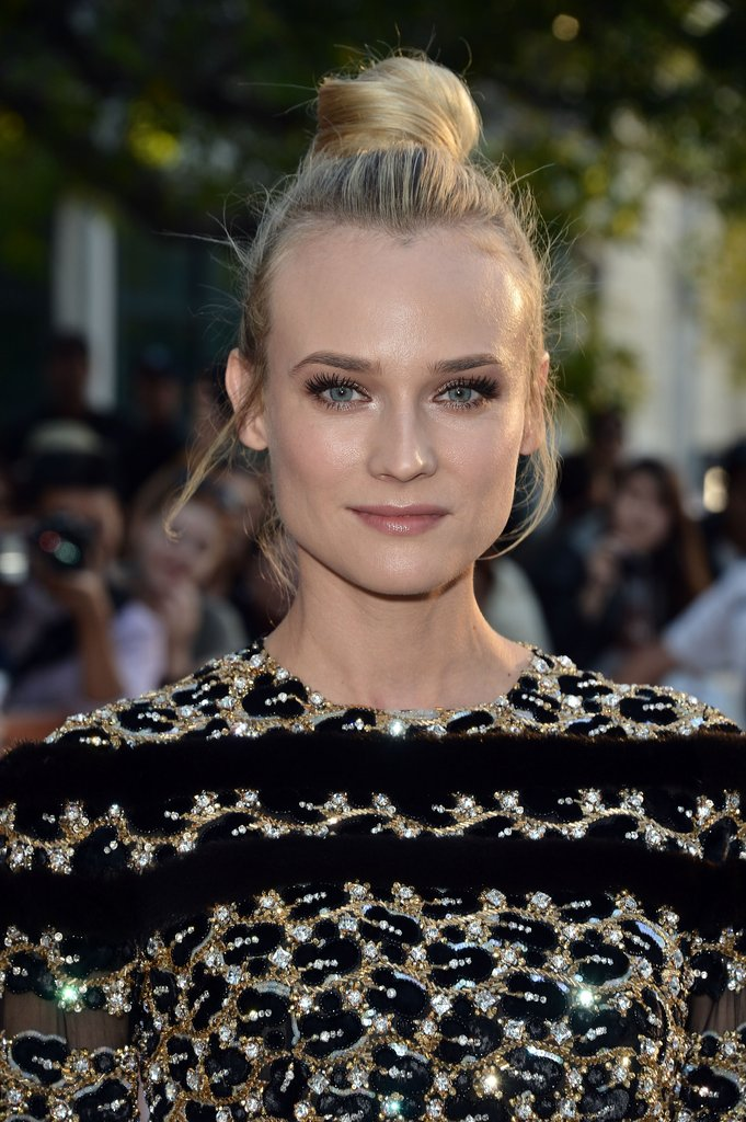 Diane Kruger wore her hair in a bun for the Inescapable premiere at the Toronto International Film Festival.