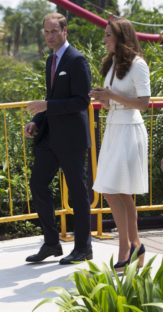 Prince William Says He Wants 2 Kids During a Busy Singapore Day With Kate