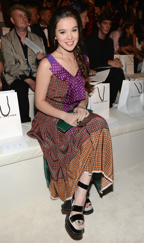 Hailee Steinfeld made a front-row appearance to support Marc Jacobs.