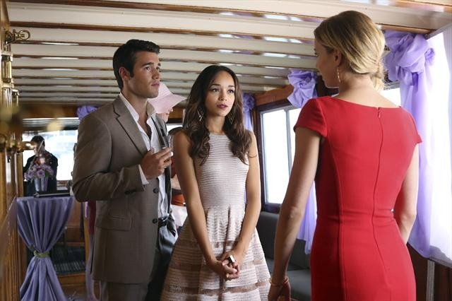 Daniel (Joshua Bowman) and Ashley (Ashley Madekwe) were getting close last season; are they a couple now? And whose party is this, anyway?