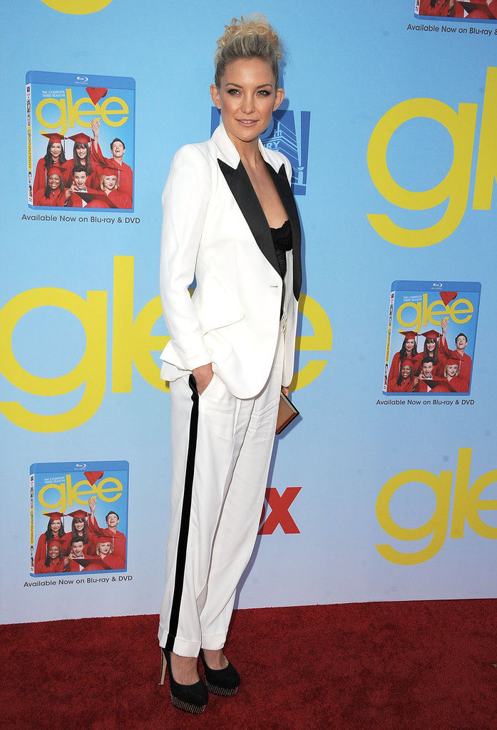 Kate Hudson rocked a white suit.