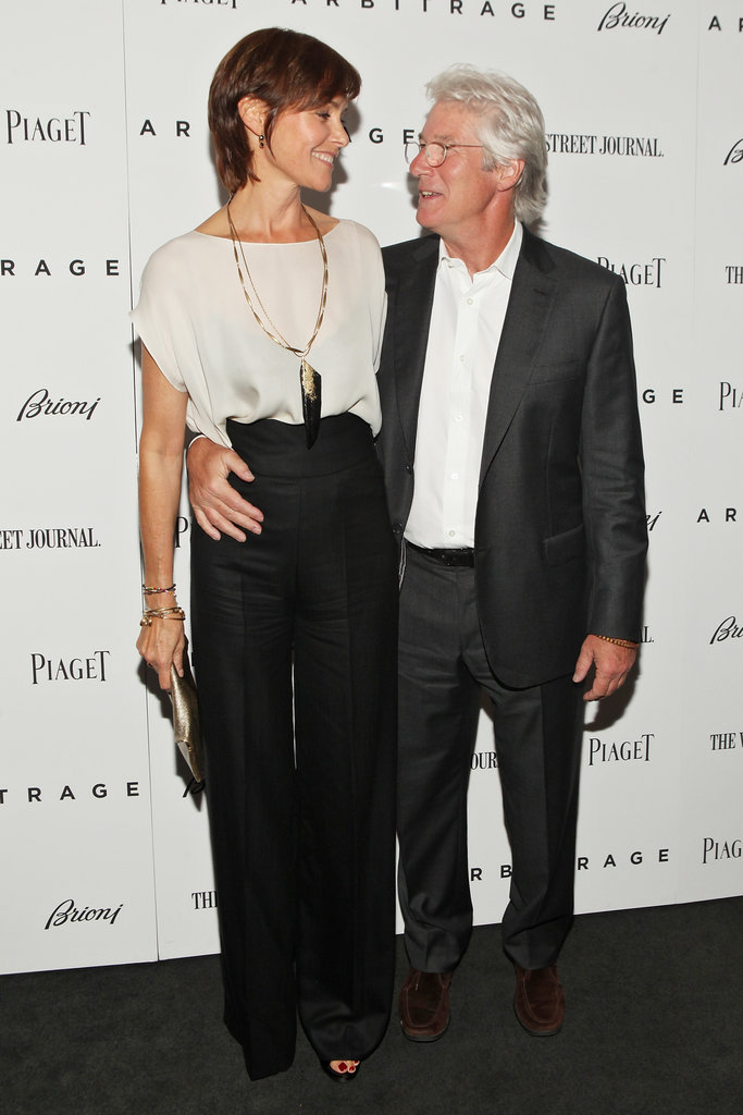 Richard Gere and wife Carey Lowell stepped out for the NYC premiere of Arbitrage.