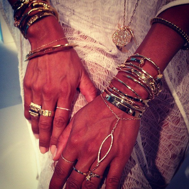 The most decked-out hands during all of Fashion Week from Jennifer Fisher.