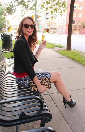 Congrats, Ppfgirl! We love the pop of leopard print from your clutch.
